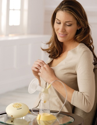 how to hold a breast pump